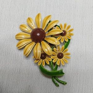 Vintage Jewelry - Vintage sunflower brooch